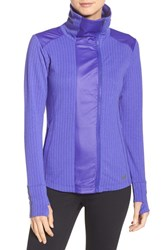 New Balance Women's 'Heat' Mock Neck Jacket Spectral