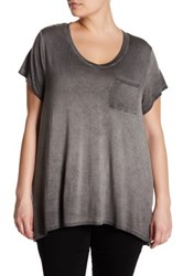 Cable And Gauge Short Sleeve Tee Plus Size Gray