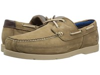 Timberland Piper Cove Leather Boat Shoe Light Brown Nubuck Men's Lace Up Casual Shoes