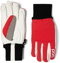Poc Leather Panelled Padded Stretch Shell Gloves Red
