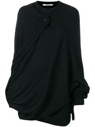Chalayan Cape Knitted Top Black