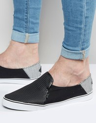 Rock And Religion Slip On Plimsolls Black