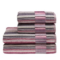 Christy Supreme Capsule Stripe Towel Berry Hand
