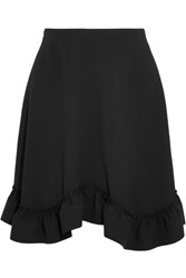 Chloe Ruffled Crepe Mini Skirt Black