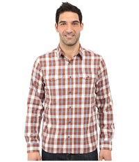 Fjall Raven Sarek Flannel Shirt Rust Men's Long Sleeve Button Up Red
