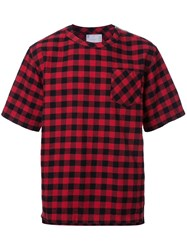 Sacai Plaid T Shirt Red