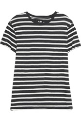 Nlst Striped Cotton And Cashmere Blend T Shirt