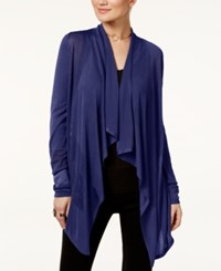 Inc International Concepts Petite Open Front Draped Illusion Cardigan Only At Macy's Deep Twilight