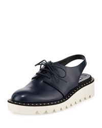 Stella Mccartney Faux Leather Slingback Oxford Navy