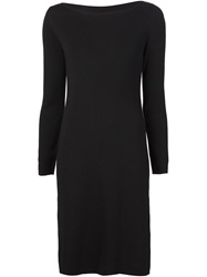 Cedric Charlier Cedric Charlier Open Back Long Sleeve Knit Dress Black