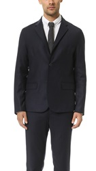 Steven Alan Sports Lapel Oliver Jacket Navy Flannel