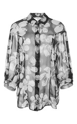Ungaro Emanuel Printed Drop Shoulder Silk Shirt