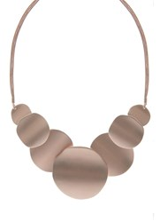 Mint Velvet Rose Gold Toned Brushed Statement Necklace Gold