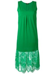Twin Set Lace Detailing Dress Green