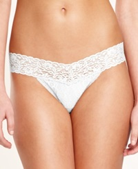 Maidenform One Size Lace Thong 40118 White
