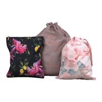 Ted Baker Black Citrus Bloom Laundry Bags Set Of 3