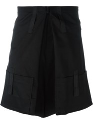 Raf Simons Pleated Pocket Shorts Black