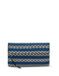 Vince Camuto Calli Leather Clutch Blue