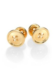 Robin Rotenier Button Cuff Links 18K Gold Vermeil