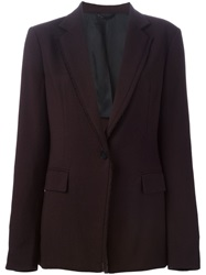 3.1 Phillip Lim Frayed Trim Blazer Red