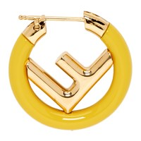 Gold And Yellow 'F Is Fendi' Earring