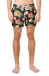 Men's Topman Tropical Floral Print Swim Trunks
