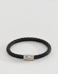 Burton Menswear Plaited Bracelet In Black