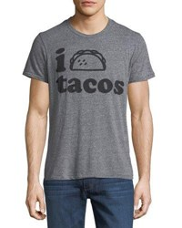 Chaser I Love Tacos Graphic Tee Gray