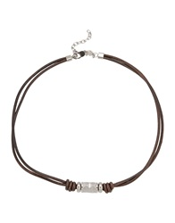 Fossil Necklaces Dark Brown