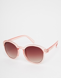 French Connection Round Sunglasses Pink