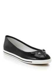 Marc By Marc Jacobs Perforated Leather Mouse Ballet Flats White