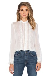Cacharel Ruffle Front Blouse White