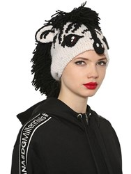 Dolce And Gabbana Zebra Wool Cashmere Knit Beanie Hat Multicolor