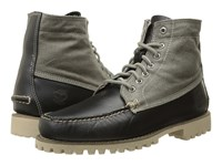 Timberland Authentics Leather And Fabric Chukka Black Full Grain Wax Canvas Men's Lace Up Boots