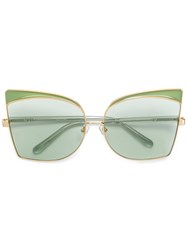N 21 No21 Oversized Sunglasses Green
