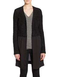 Bailey 44 Cheryl Knit And Woven Cardigan Black