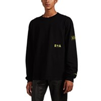 Rta Admin Print Cotton Long Sleeve T Shirt Black