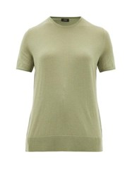 Joseph Fine Wool Blend T Shirt Light Green