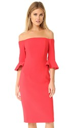 Black Halo Madigan Sheath Dress Chic Red