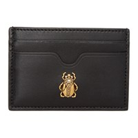 Alexander Mcqueen Black Insect Card Holder