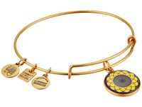 Alex And Ani Sunflower Charm Bangle Rafaelian Gold Bracelet