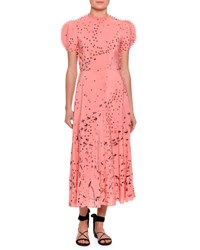 Valentino Metamorphosis Printed Tea Length Dress Pink Multi Pink Pattern