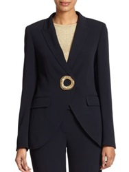 Escada Bead Ring Jacket Navy
