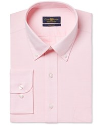 Club Room Estate Wrinkle Resistant Powder Pink Pinpoint Solid Dress Shirt Only At Macy's