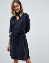Maison Scotch Kimono Inspired Wrap Dress Color 08 Black