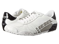 Diesel Harold Solar Gray Black Leather Black Patent Men's Lace Up Casual Shoes White