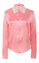 Alexis Mabille Embellished Collar Blouse Pink