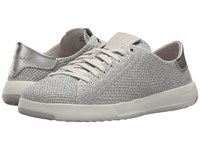 Cole Haan Grandpro Tennis Stitchlite Metallic Silver Optic White Shoes Gray