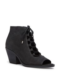 Me Too Nola Leather Ankle Boots Black