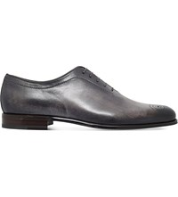 Stemar Hand Painted Leather Oxford Shoes Grey Dark